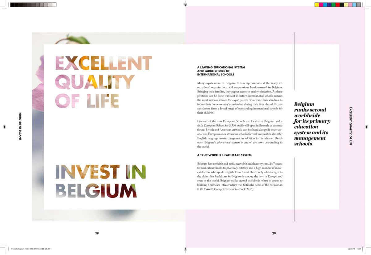 Fod Investin Belgium Design Layout Print