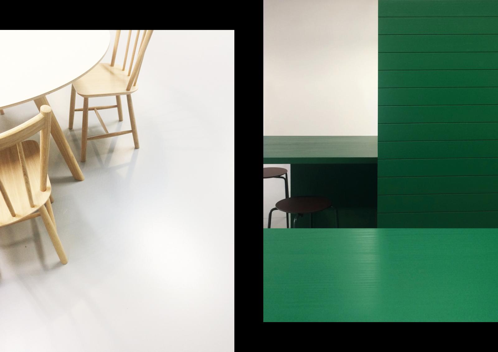 Pfizer Belgium Interior Design Cafetaria Details Green