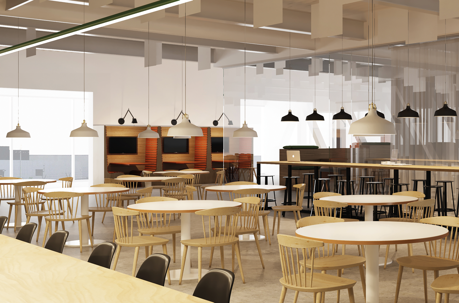 Pfizer Belgium Interior Design Cafetaria